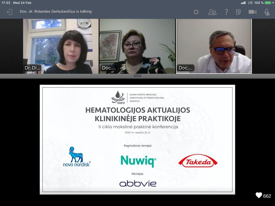 Hematologijos aktualijos klinikinėje praktikoje | II KONFERENCIJA