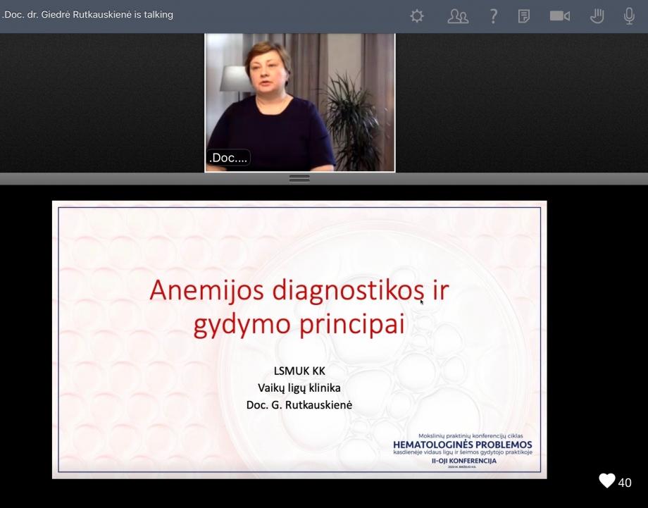 Hematologinės problemos kasdienėje vidaus ligų ir šeimos gydytojo praktikoje  |  II-OJI KONFERENCIJA
