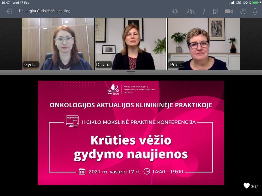 """Onkologijos aktualijos klinikinėje praktikoje   II KONFERENCIJA """"Krūties vėžio gydymo naujienos"""