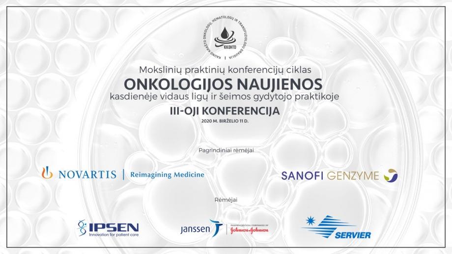 Onkologijos naujienos kasdienėje vidaus ligų ir šeimos gydytojo praktikoje | III-OJI KONFERENCIJA